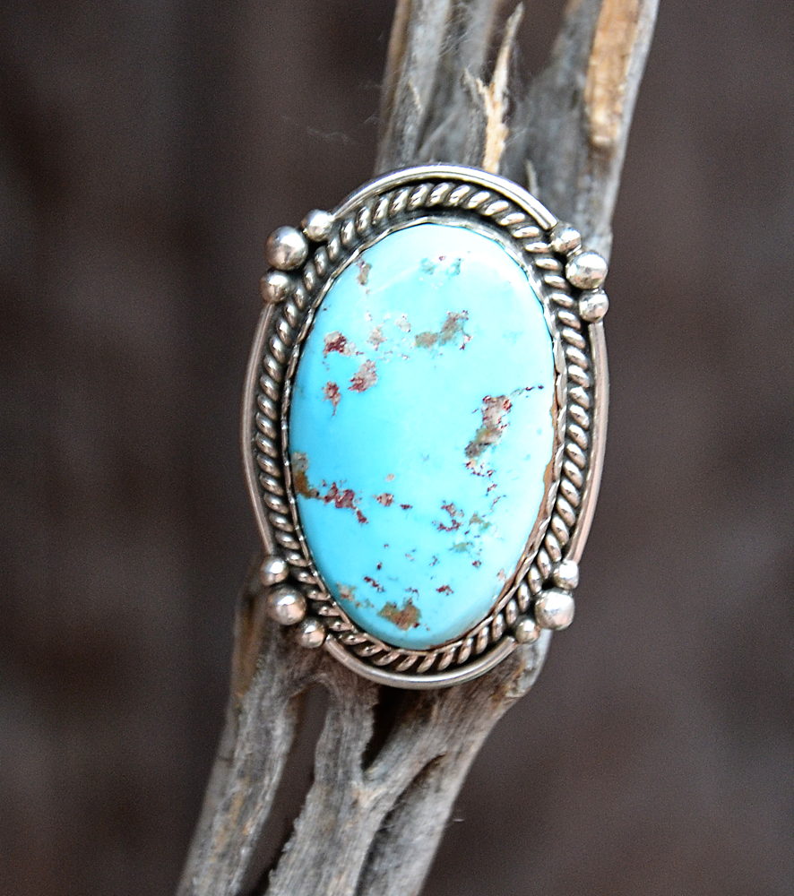 Sleeping Beauty Turquoise Sterling Silver Ring Turquoise