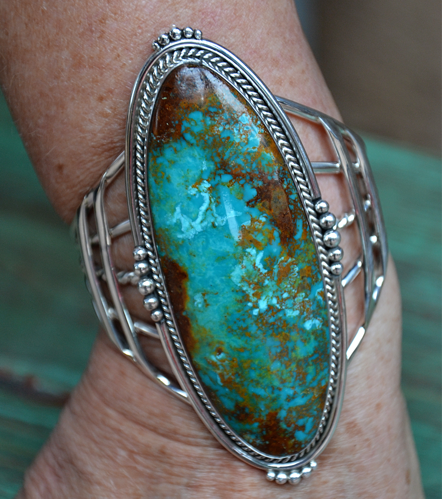 Patagonia Turquoise Sterling Silver Cuff Bracelet