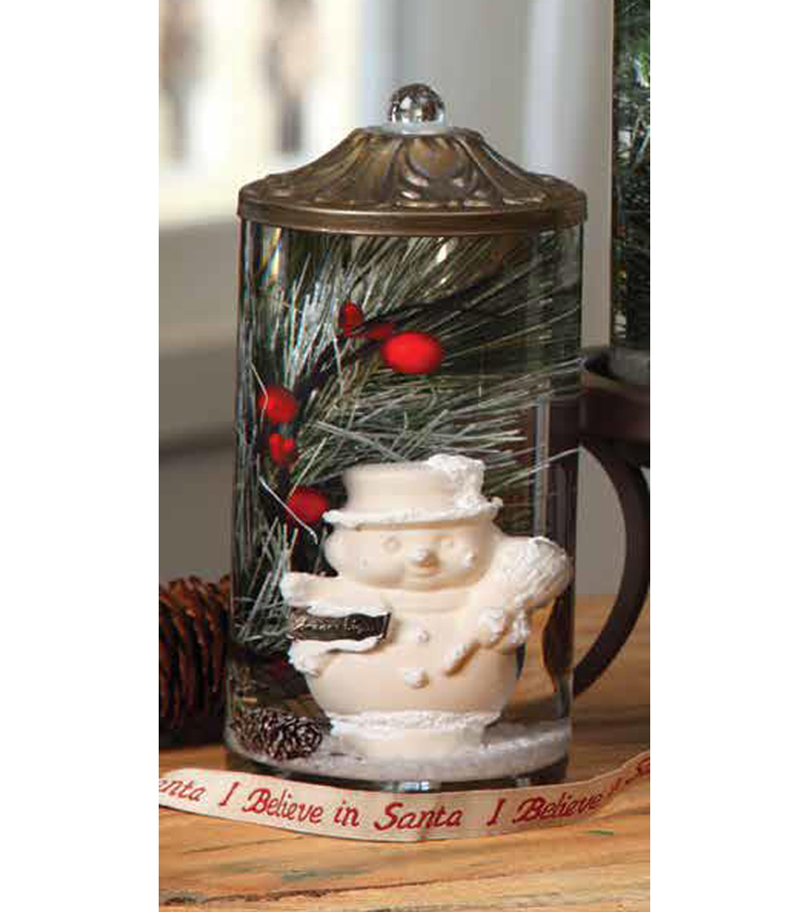 Mesquite Branch Centerpiece : Winter snowman quot cylinder oil candle turquoise butterfly