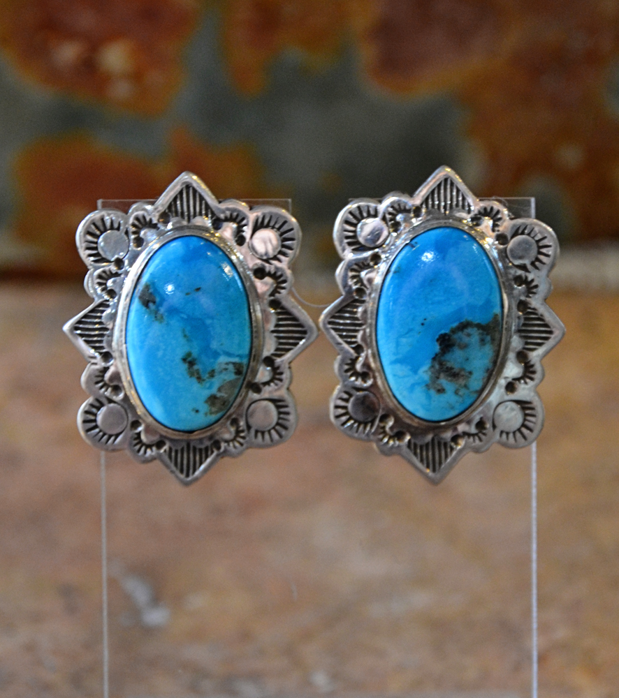 butterfly blue turquoise earrings bright jewelry turq royston product