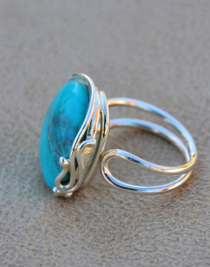 China Mountain Turquoise Ring