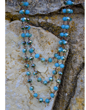 Triple Beaded Turquoise Necklace