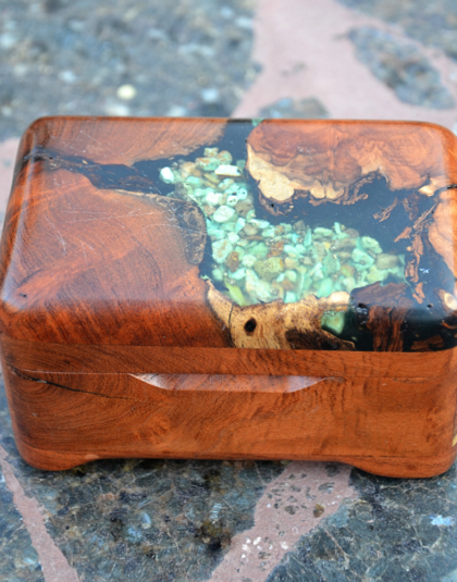 Mesquite Box with Cripple Creek Turquoise