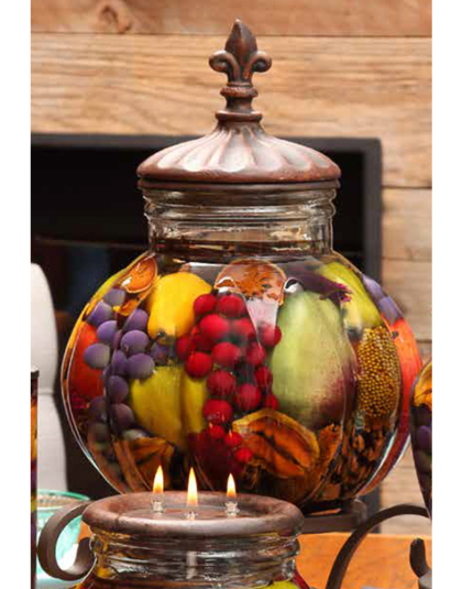 Fruit Bowl Large Centerpiece Oil Candle