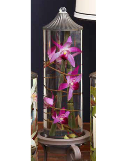 """Lilac Orchid 12"""" Cylinder Oil Candle"""
