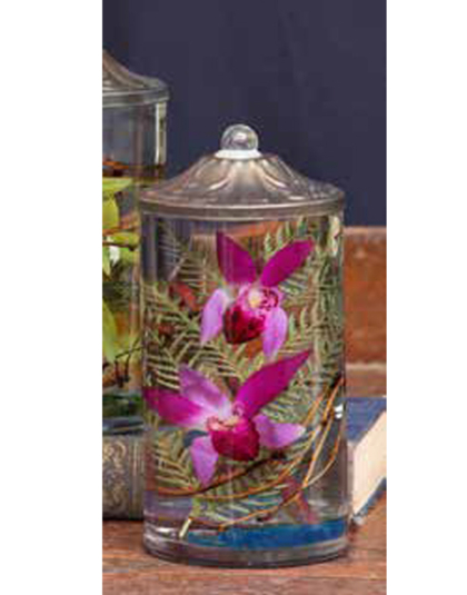 """Lilac Orchid 7.5"""" Cylinder Oil Candle"""