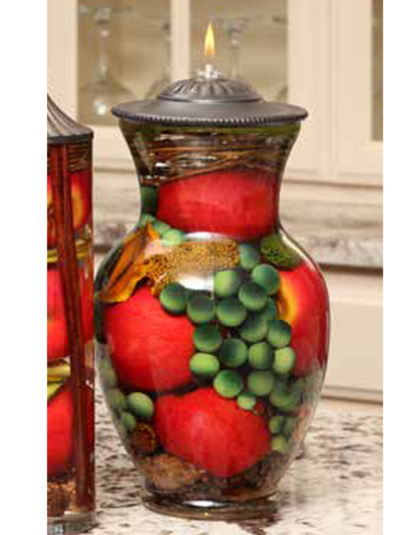Red Apple Ginger Vase Oil Candle