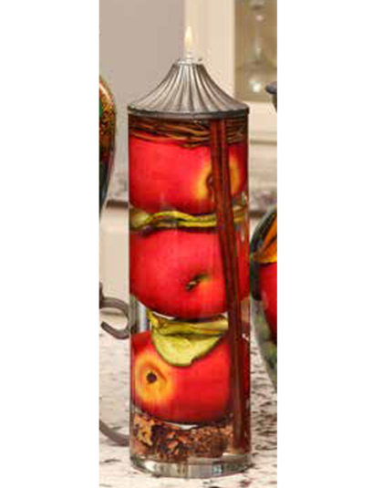 Red Apple Cylinder Oil Candle
