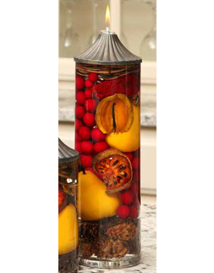 Red Berry Pear Cylinder Oil Candle