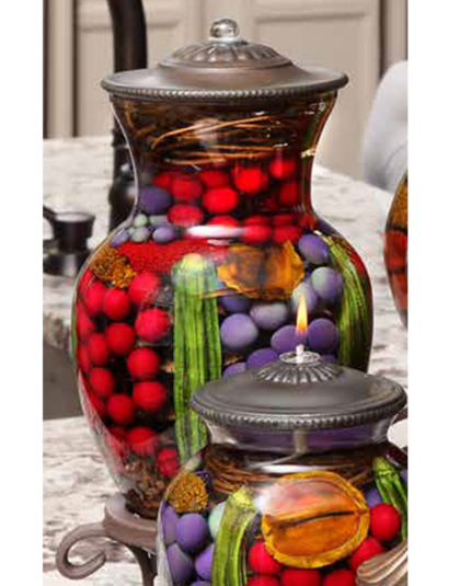 Red Purple Berry Ginger Vase Oil Candle