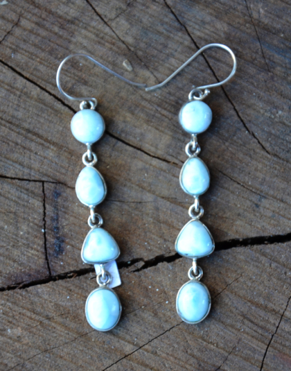 Four Stone Larimar Dangle Earrings
