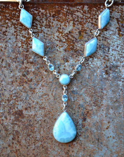 Six Stone Larimar Necklace