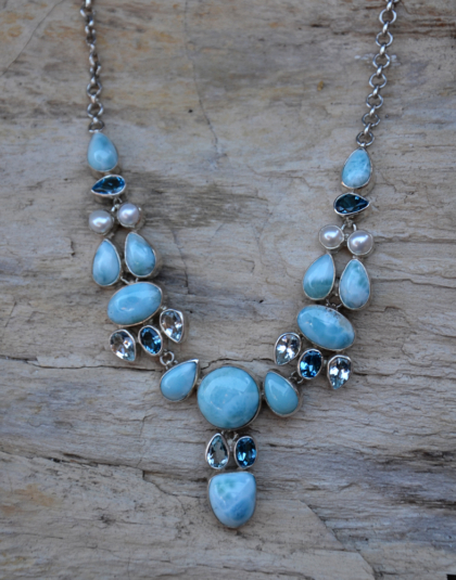 Larimar Statement Necklace