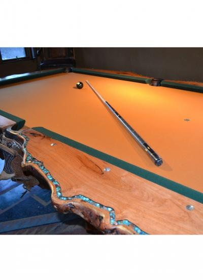 Awesome Mesquite Pool Table With Inlaid Kingman Turquoise Home Interior And Landscaping Ponolsignezvosmurscom
